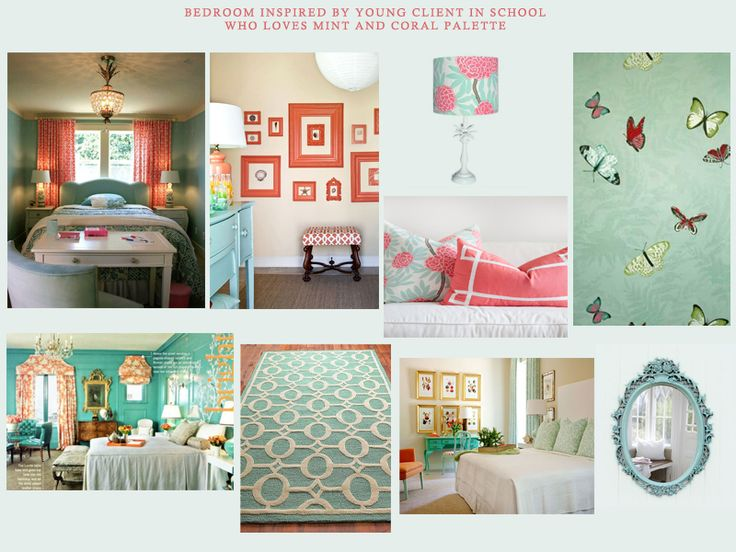 Coral And Mint Bedroom Kee Interiors Concept Boards