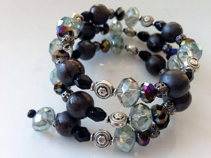 Jewelled Designs - Dark and Light Crystal Wrap, $40.00 (http://www.jewelleddesigns.com/dark-and-light-crystal-wrap/)