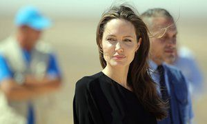 Angelina Jolie: 'Americans have shed blood to defend the idea that human rights transcend culture, geography, ethnicity and religion.'