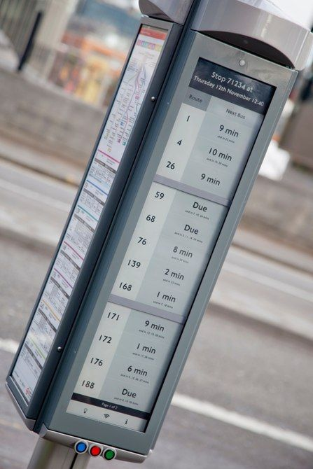 Low cost e-ink for signs in London (Credit: Transport for London)