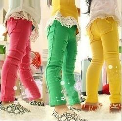 mobile site-NZ160,Free Shipping! 2013 child leggings fashion girl candy color tight pants 3 colors spring kid trousers wholesale and retail