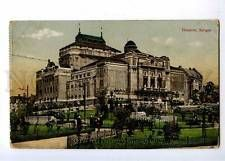 191666 NORWAY BERGEN theatre Vintage postcard