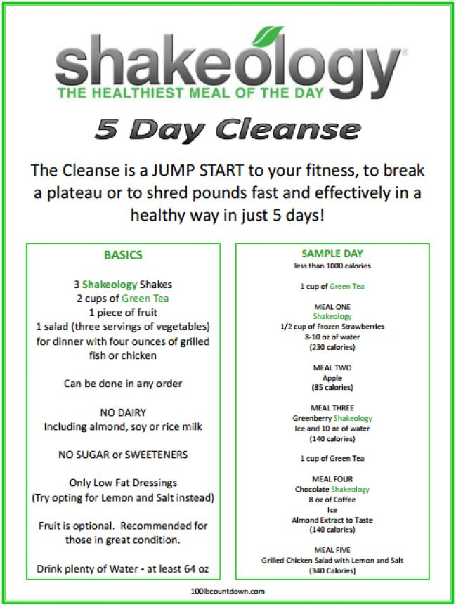 5 day cleanse! http://www.shakeology.com/teamcoconutbeach