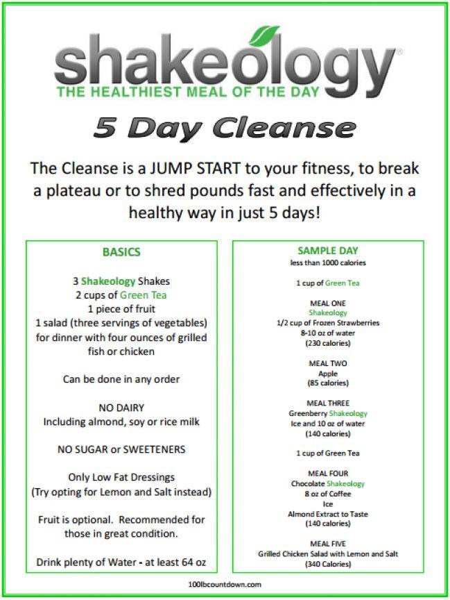 5 day cleanse! http://www.shakeology.com/teamcoconutbeach