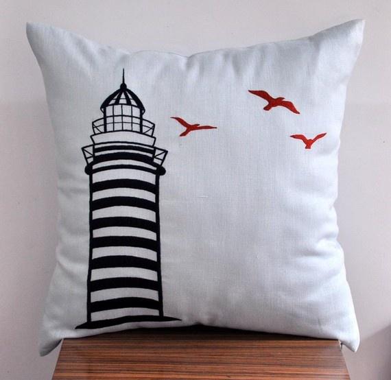 Lighthouse birds. Pillow PatternsPillow IdeasNautical MarinePillow TalkAnchor ... & 100 best pillow ideas to make images on Pinterest | Haberdashery ... pillowsntoast.com