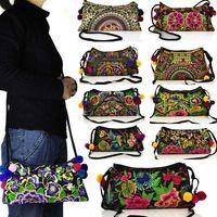 2014 new Ricamato Sacchetti di spalla tendenza Nazionale ricami fatti a mano Messenger bag