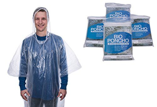 "Biodegradable Disposable Rain Poncho Clear with Hood Set of 4 Extra Strong Quality Size 50"" x 80"" Essential for Backpacking Camping Car Emergency Kit Survival Gear Eco-Friendly Family Vacation #Biodegradable #Disposable #Rain #Poncho #Clear #with #Hood #Extra #Strong #Quality #Size #Essential #Backpacking #Camping #Emergency #Survival #Gear #Friendly #Family #Vacation"