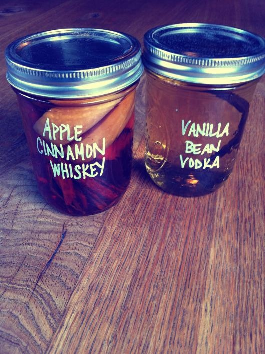 how to infuse liquors... apple cinnamon whiskey!