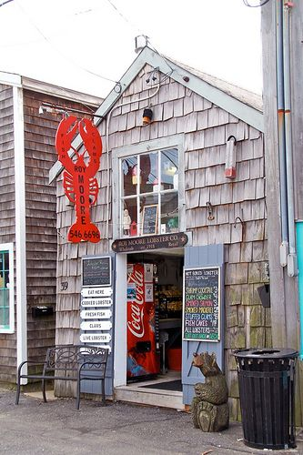 You can eat fresh lobster, caught that day here - everyday! Rockport, MA