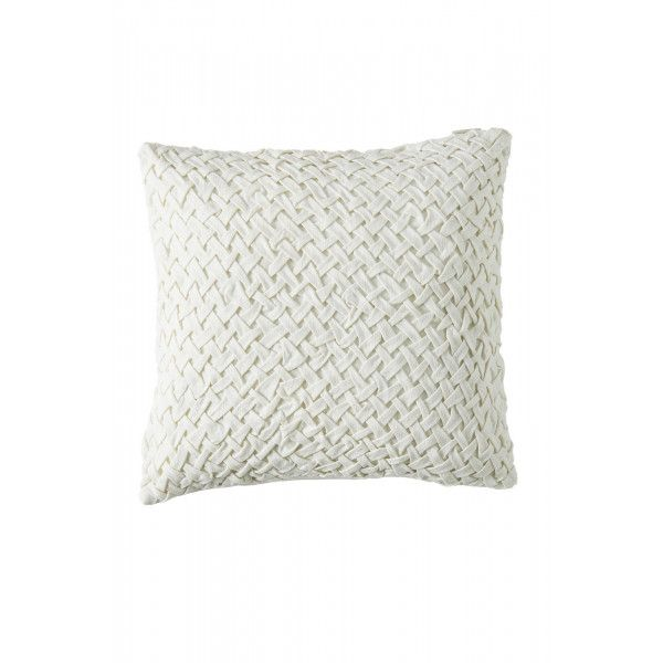 Whimsical Weave Pillow Cover White 50x50 Pillow Cases Cushions