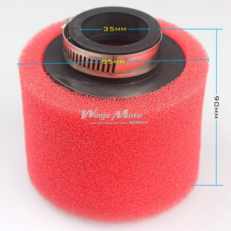 10pcs Wholesale 35mm Red Foam Air Filter Cleaner for 50cc 70cc 90cc 110cc ATV Dirt Pit Bike Straight Inlet