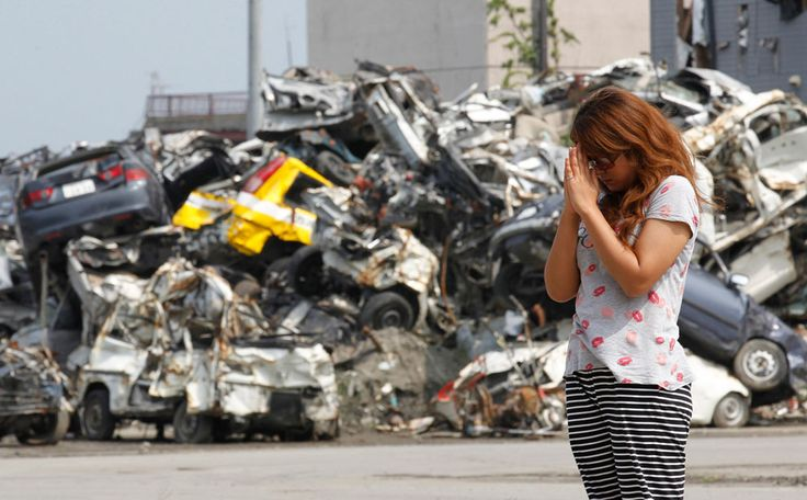 prays for victims of the March 11 earthquake