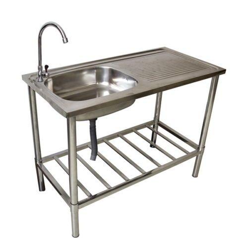 Westerholt Waschtisch Waschbecken Edelstahl Tisch Für Außen  Und  Gartenbereich