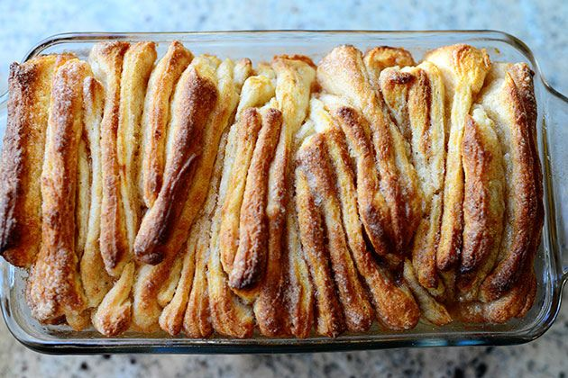 What's better than cinnamon toast? Pioneer Woman's recipe for pull-apart, cinnamon sugar  bread! Even better, try adding orange marmalade and cranberries to the mix!!