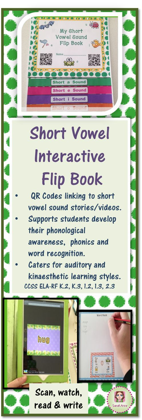 364 best literacy images on pinterest english learning and short vowel interactive flipbook with qr codes common core aligned fandeluxe Images