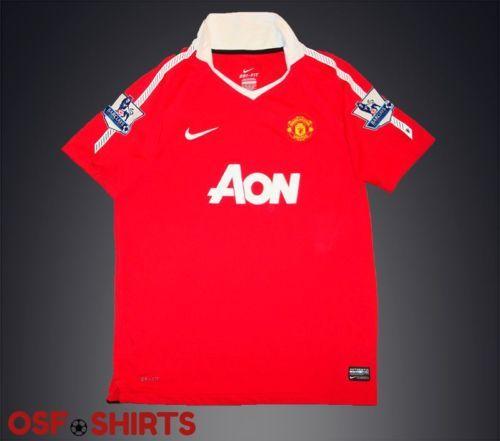 Manchester-United-Home-Football-Shirt-2010-2011-Jersey-Trikot-Maglia-Nike-Soccer