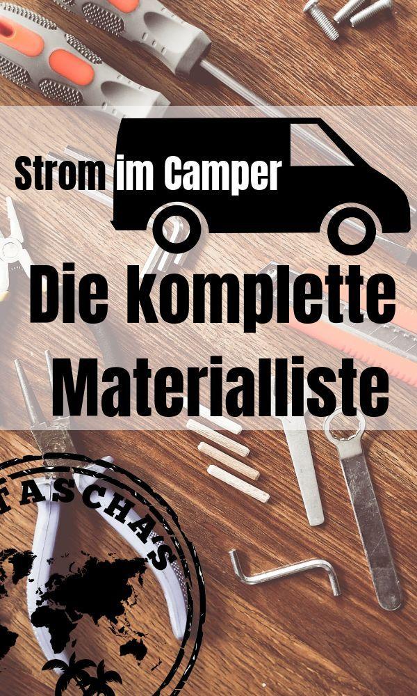 Das 1×1 der autarken Stromanlage / Die Materialliste – Ausbau & DIY Van / Wohnmobil
