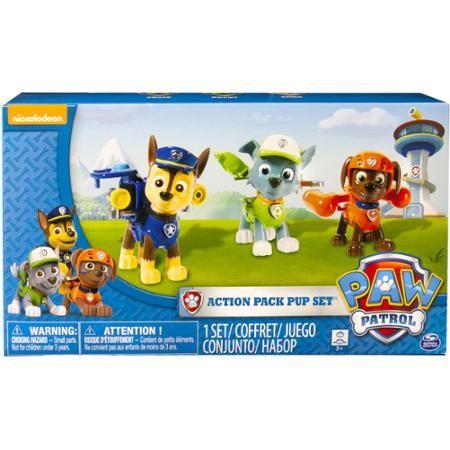 Nickelodeon Paw Patrol - Action Pack Pups 3pk Figure Set Chase, Rocky, Zuma