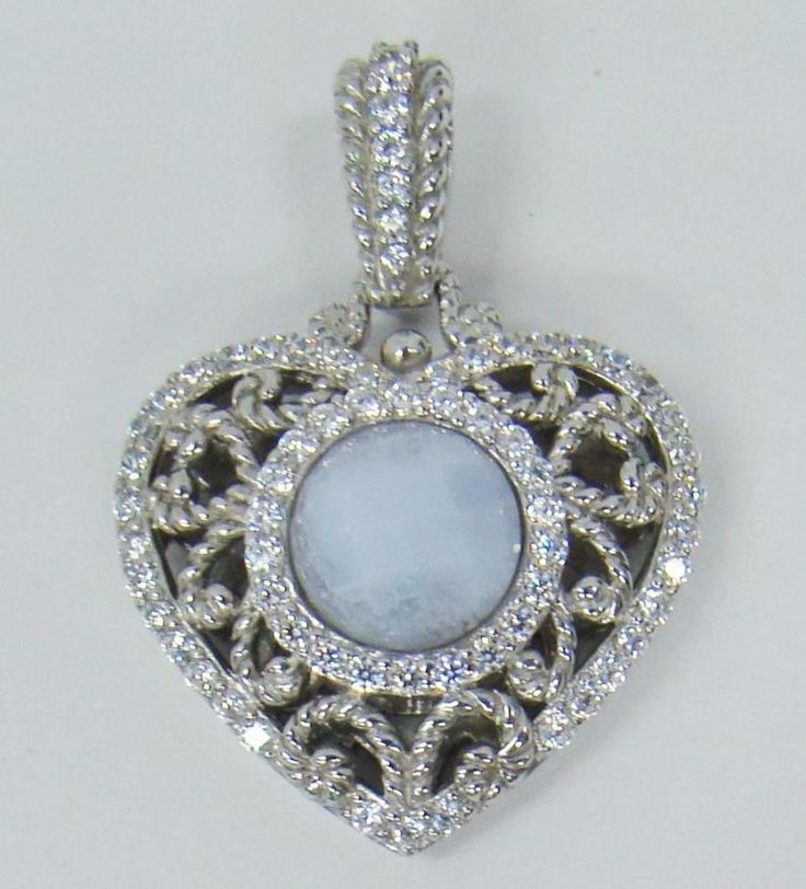 set pendant com necklace piece qvc sterling judith product ripka gemstone silver page
