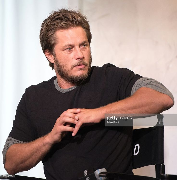 Travis Fimmel attends the AOL Build Speaker Series to discuss 'Maggie's Plan' at…