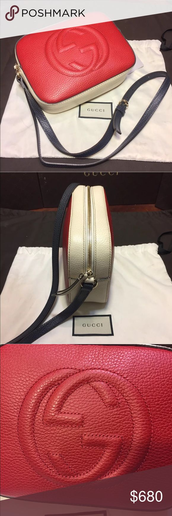 Red Gucci Soho Disco Crossbody Bag 100% Authentic ♦️ We are a very negotiable service ♦️ We provide overnight shipping and express shipping ♦️ Our transactions are made through third party applications ♦️ If you are interested in buying this product please contact us via 646-431-6521 ♦️ Gucci Bags Crossbody Bags