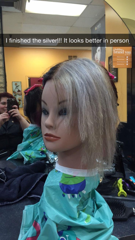 Silver hair color!!! | My beauty school styles | Pinterest ...
