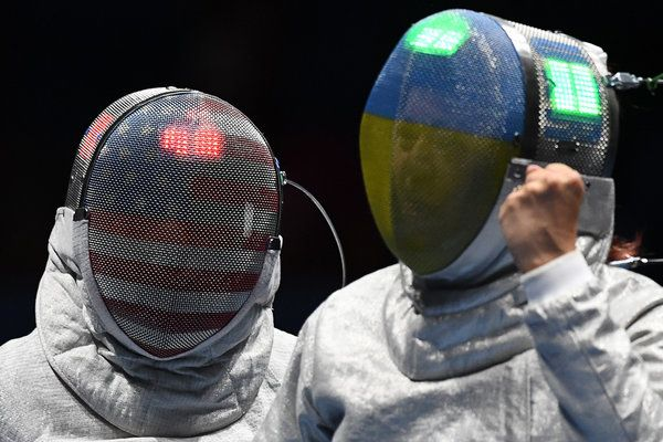 These Olympic Fencing Masks Are Hella Cool