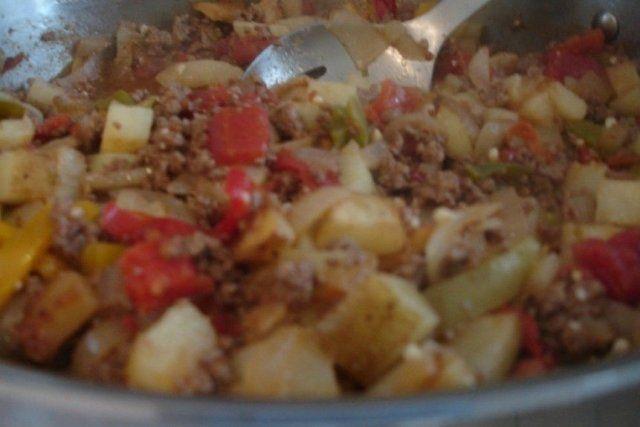 Foto de la receta de relleno para pavo de carne molida