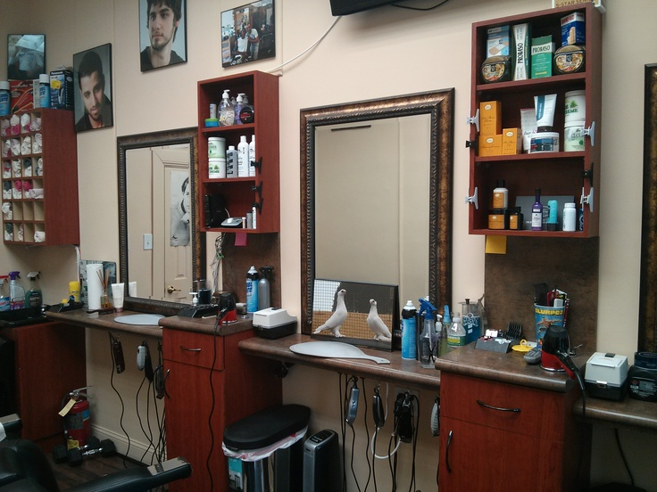 Josh S Barbershop Mirrors And Shelves Barber Shops