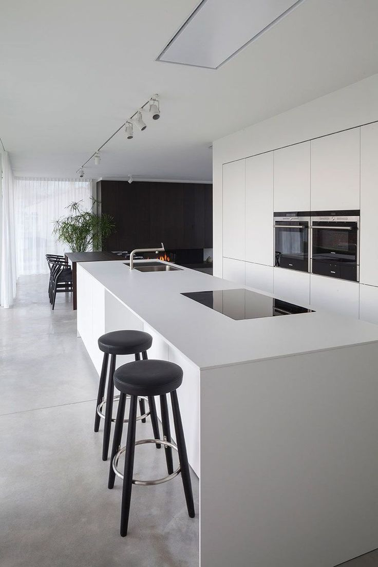 Brutalist In The Front Modernist In The Back. Modern Kitchen DesignsModern  ...
