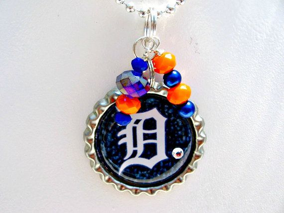 Check out this item in my Etsy shop https://www.etsy.com/listing/230393296/detroit-tigers-necklace-detroit-tigers
