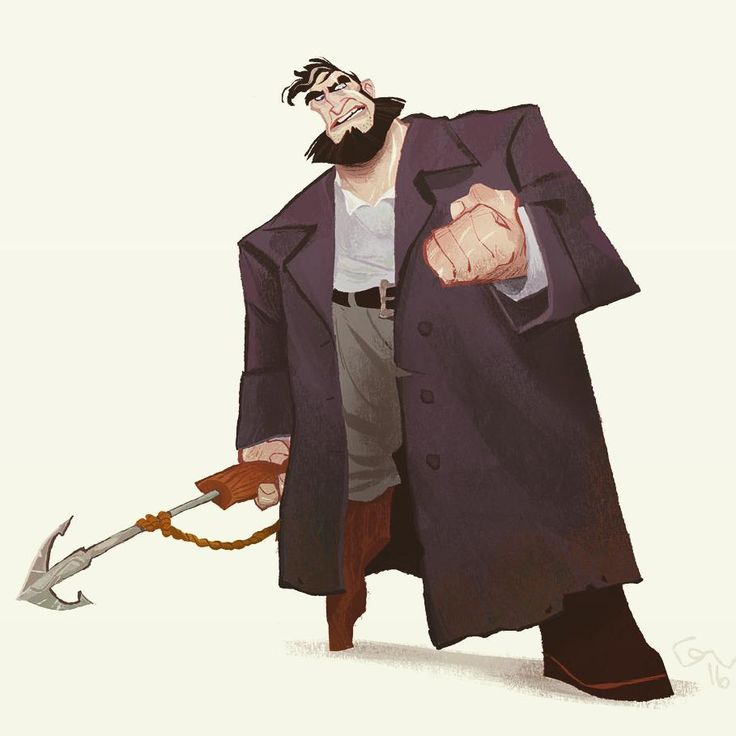 "844 Likes, 9 Comments - Guilherme Franco (@guiff2) on Instagram: ""Captain Ahab  #art #illustration #characterdesign #instaart #mobydick #ahab"""
