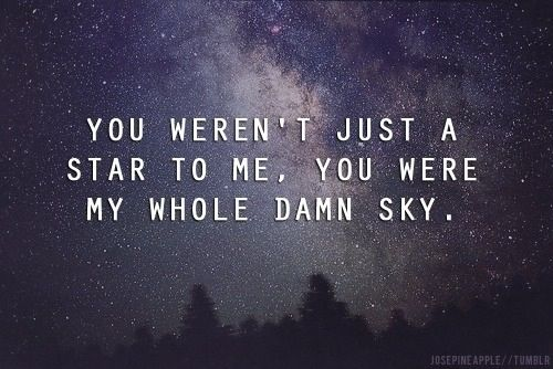 My whole sky