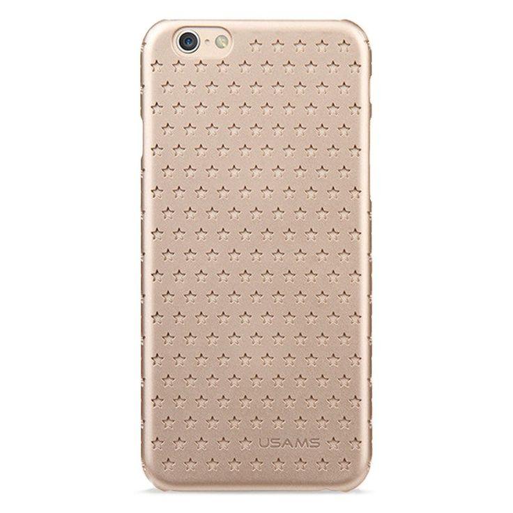 Kryt USAMS pro iPhone 6 s hvězdičkami zlatý  #AllCases.cz #kryt #case #sleva #iphone #iphone6