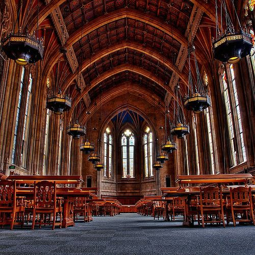 The Suzzallo library of the University of Washington in Seattle, Washington - click thru for more gorgeous libraries.