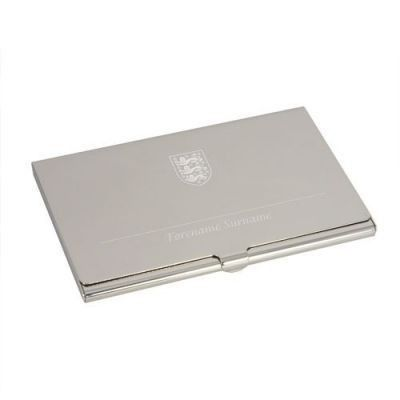 Give them a gift that shows everyone how much they love England football with the Personalised England Executive Business Card Holder. Features the England crest and their own name. #Football #England  £14.95