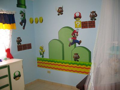 Super Mario Wall Sticker Bros Build Scene Stickers For