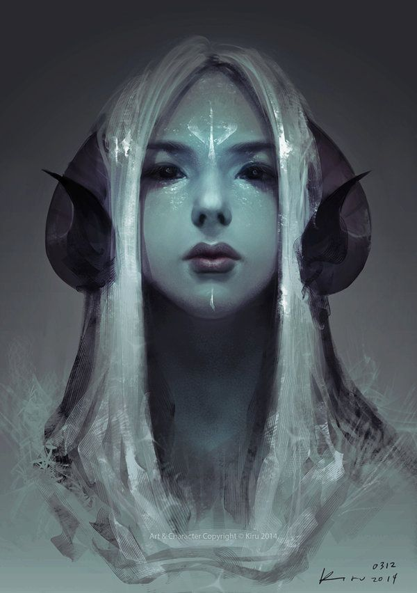 Idea for a Tiefling Shaman character I have in mind. stare by keerou on deviantART