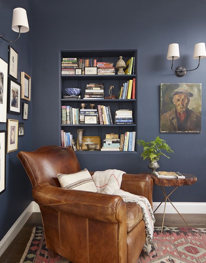 #ourHabitat navy-blue-walls