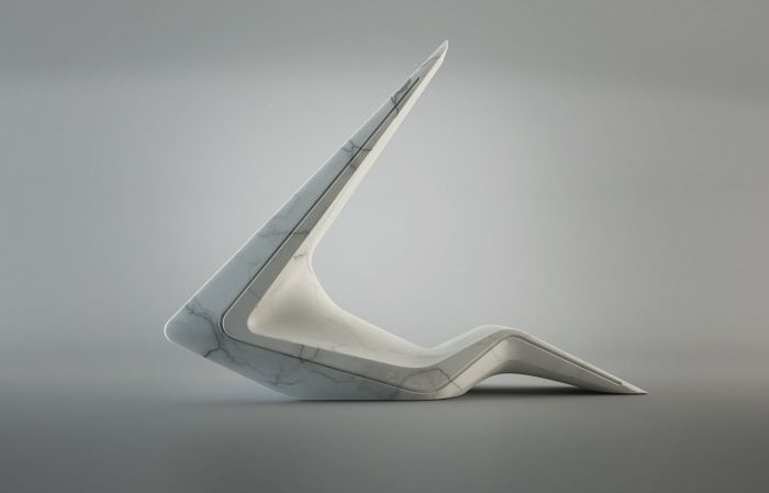 Arrow Sculpture - White Moon Gallery by Anthony Pech at Coroflot