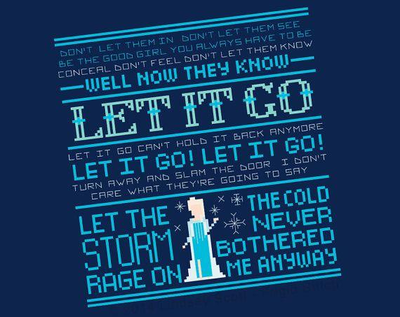 Let It Go Cross Stitch PATTERN - PDF Instant Download