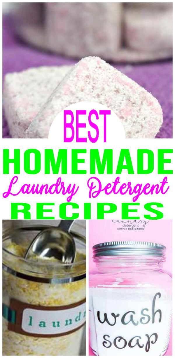 Best Homemade Laundry Detergent Easy Recipes Powder Liquid