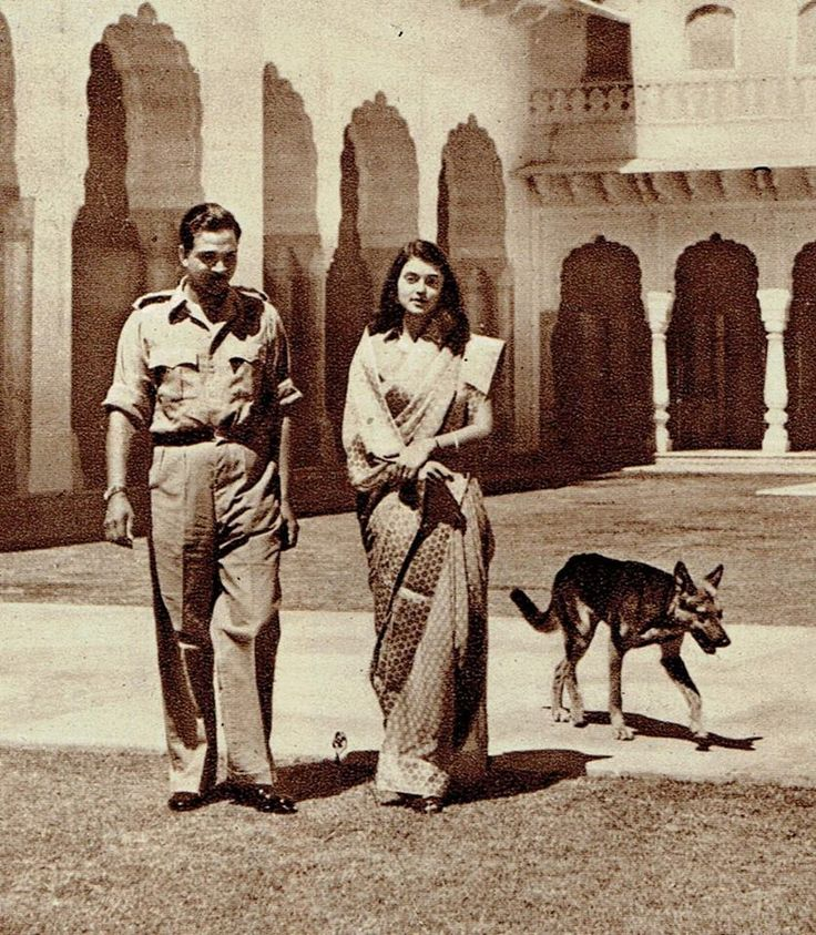 A Rajput Chief and His Wife: Maharaja Sawai Man Singh Ji II of Jaipur and Maharani Gayatri Devi Ji of Jaipur The Sketch (magazine) February 6, 1946