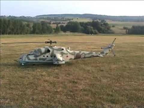 R/C Mi-24 Hind Helicopter Turbine Powered SICK!!