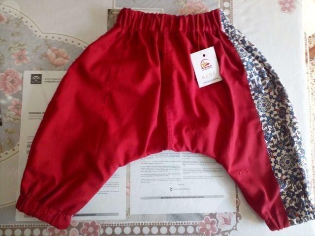 . el regalo perfecto, pantalones cagados de ni�o hechos con la t�cnica pastwoch de las tallas 1, 2 y 3