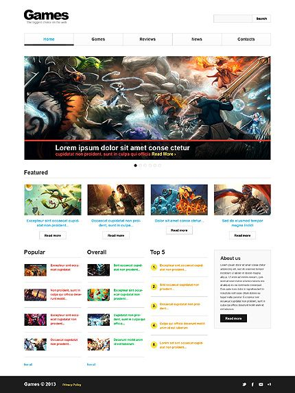 7 best movies games music portal web design templates images on