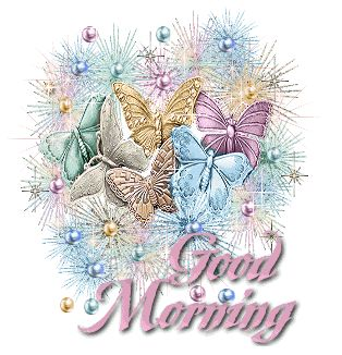 Colourful Butterflies - Good Morning Graphic