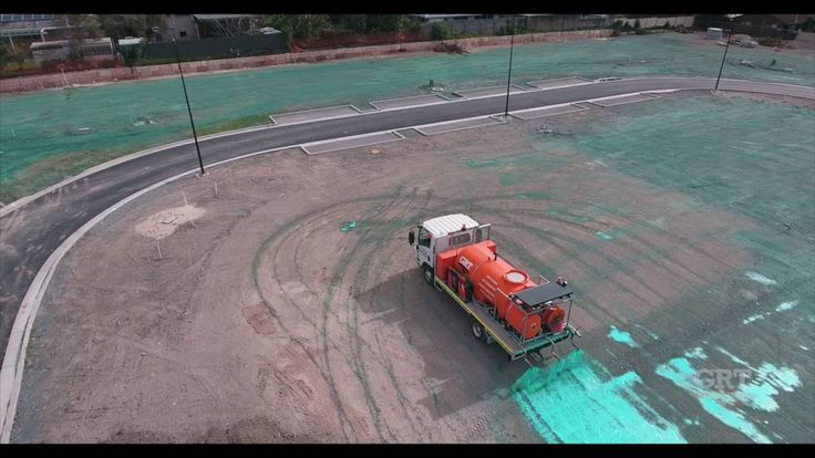 Global Road Technology Enviro Soil Binder Erosion Control Application