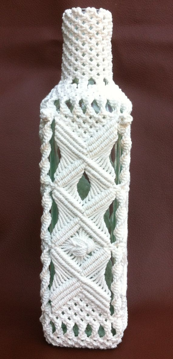 Museum Quality Macrame Bottle от LuxuryRopeWorkshop на Etsy