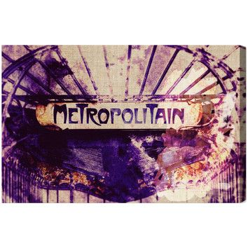 Oliver Gal Oliver Gal Metropolitain Graphic Art on Canvas
